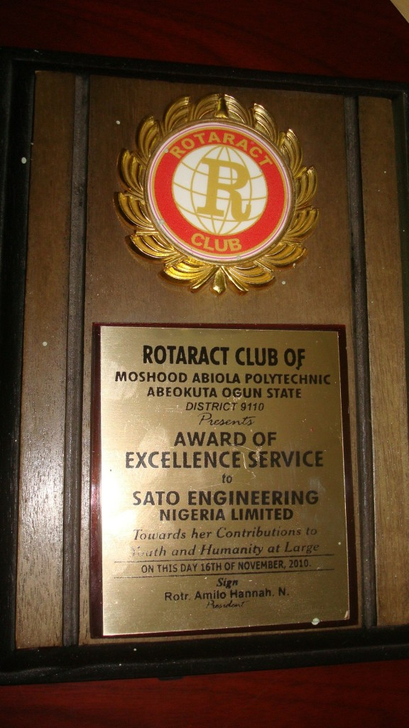 Rotaract Club Award